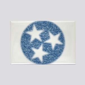 Faded Tennessee Flag Rectangle Magnet