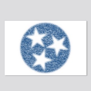 Faded Tennessee Flag Postcards (Package of 8)