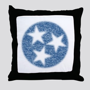 Faded Tennessee Flag Throw Pillow