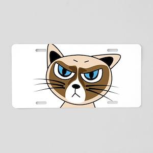 Grumpy Cat Aluminum License Plate