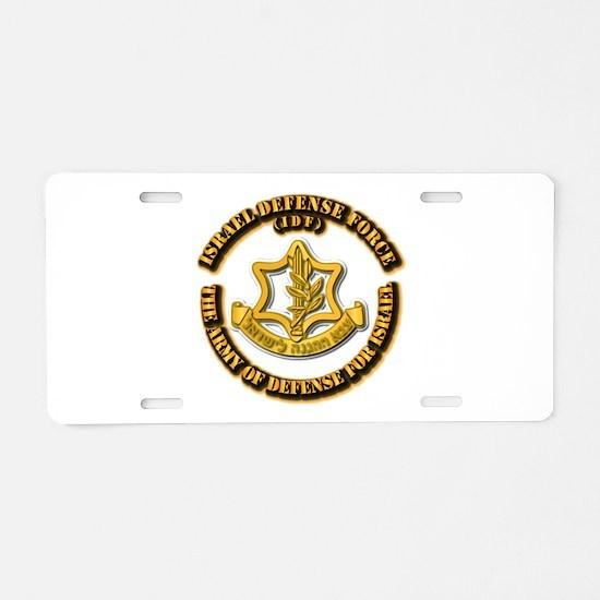 Israel Defense Force - IDF Aluminum License Plate