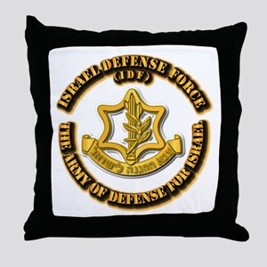 Israel Defense Force - IDF Throw Pillow