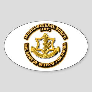 Israel Defense Force - IDF Sticker (Oval)