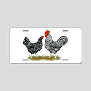 Marans Cuckoo Chickens Aluminum License Plate