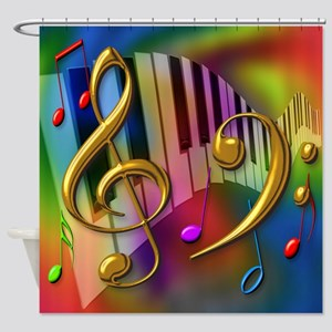 Colors of Music Shower Curtain