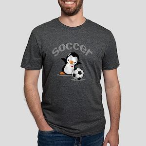 Soccer Penguin (6) Mens Tri-blend T-Shirt
