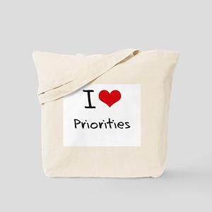 I Love Priorities Tote Bag