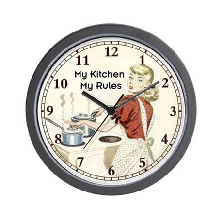 Charming My Kitchen Wall Clock