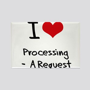 I Love Processing - A Request Rectangle Magnet