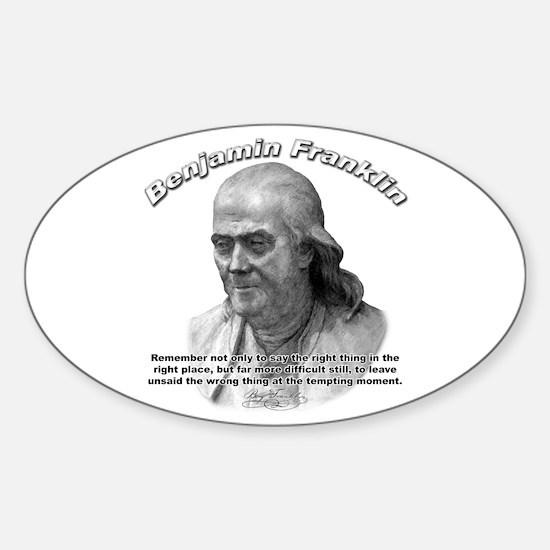 Benjamin Franklin 04 Oval Decal