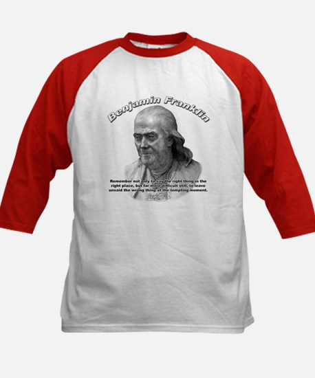 Benjamin Franklin 04 Kids Baseball Jersey