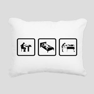 Grilling Rectangular Canvas Pillow