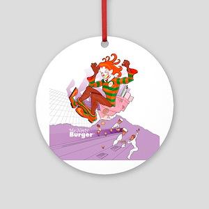 McNasty Burger Ornament (Round)