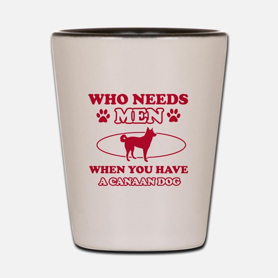 Funny Canaan Dog mommy designs Shot Glass