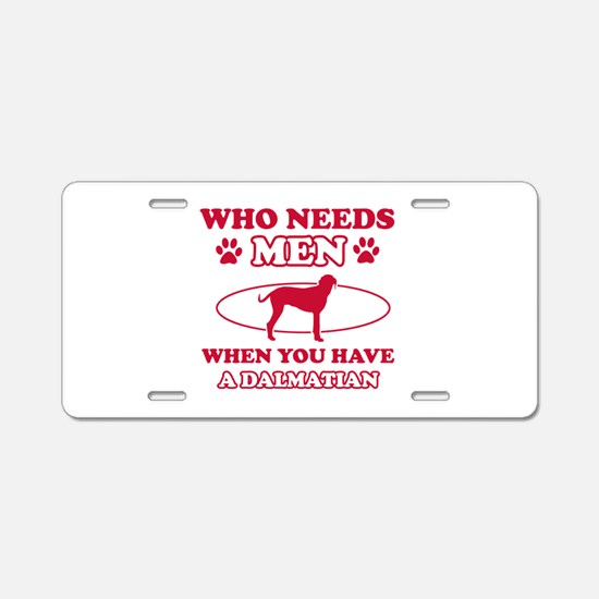 Funny Dalmatian mommy designs Aluminum License Pla