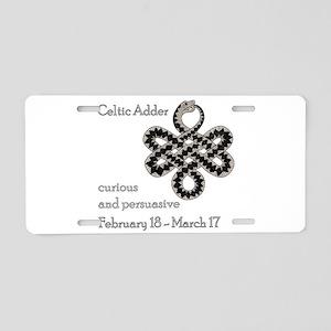 Celtic Adder Aluminum License Plate