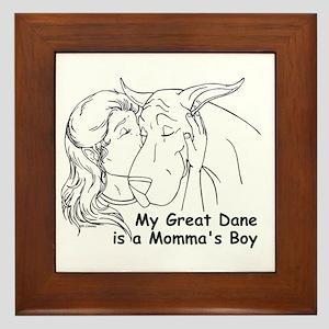 C Love Momma's Boy Framed Tile