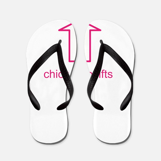 Chick who lifts big Flip Flops