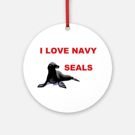 LOVE NAVY SEALS Ornament (Round)