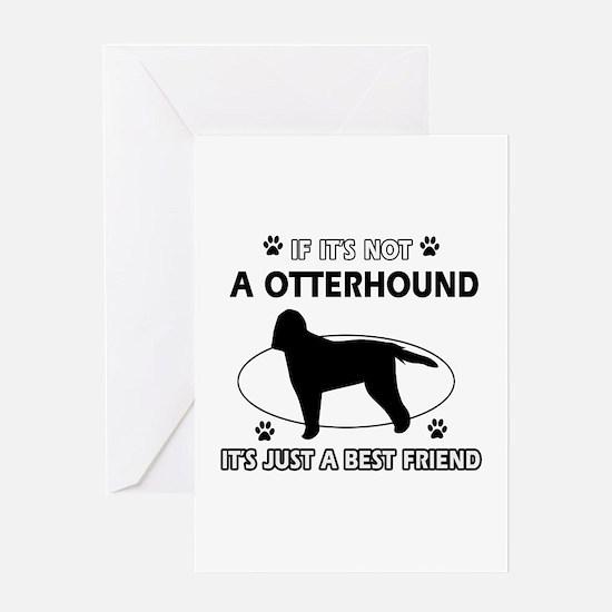 Otterhound designs Greeting Card