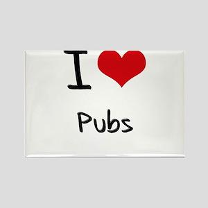 I Love Pubs Rectangle Magnet