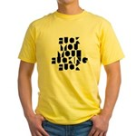 Ad-Free Fuck you Hidden Message Yellow T-Shirt