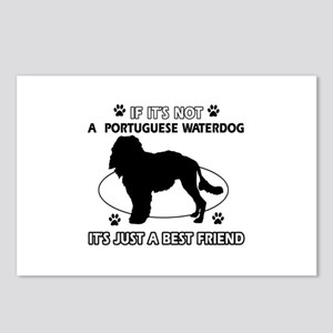 Portuguese Water Dog designs Postcards (Package of