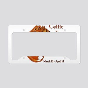 Celtic Fox License Plate Holder