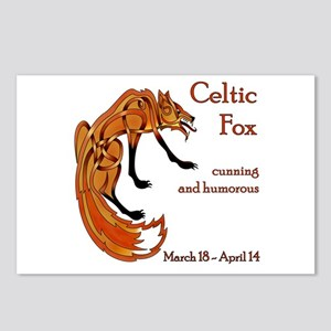 Celtic Fox Postcards (Package of 8)