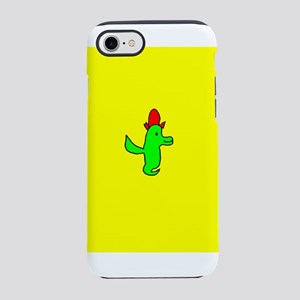 Cute Smiling LA Bird with Red iPhone 7 Tough Case
