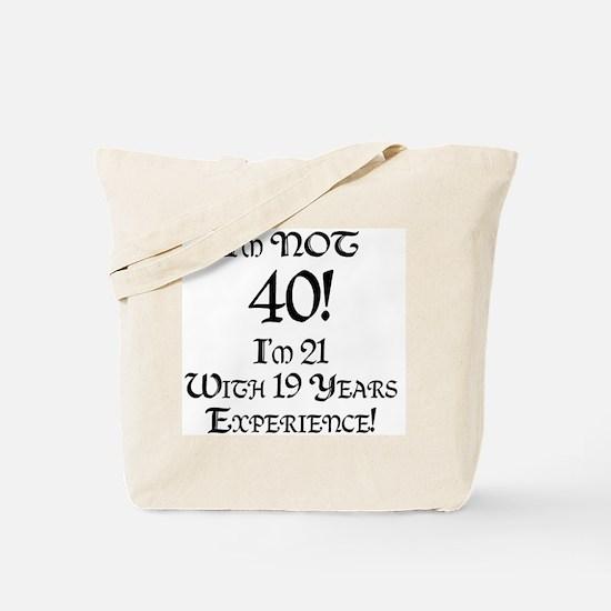 Classy 40th Birthday Tote Bag