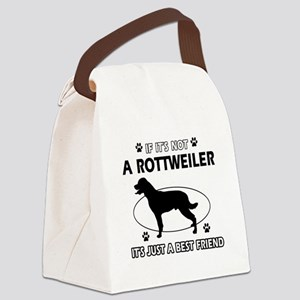 Rottweiler designs Canvas Lunch Bag