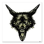 wolf Square Car Magnet 3