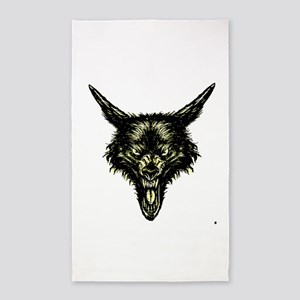 wolf 3'x5' Area Rug