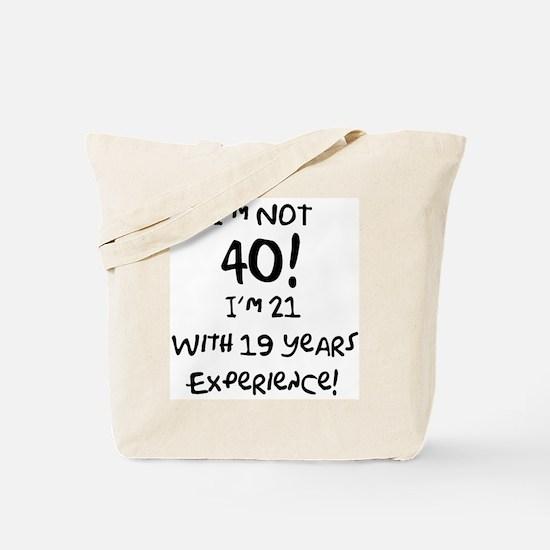 40th Birthday Fun Tote Bag