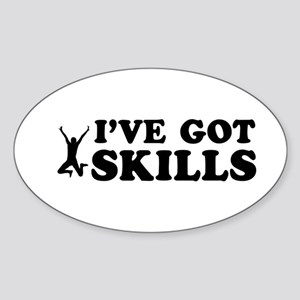 Long Jump got skills designs Sticker (Oval)