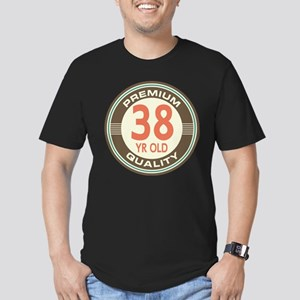 38th Birthday Vintage Men's Fitted T-Shirt (dark)