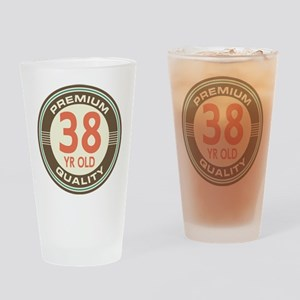 38th Birthday Vintage Drinking Glass