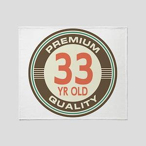33rd Birthday Vintage Throw Blanket