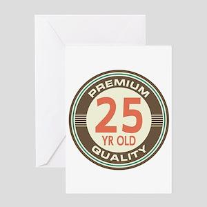 25th Birthday Vintage Greeting Card