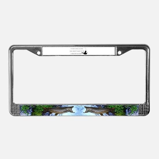 Master baiter License Plate Frame