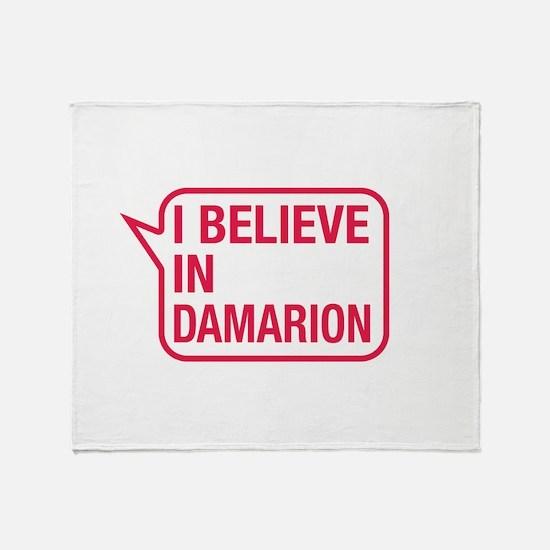 I Believe In Damarion Throw Blanket