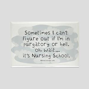 Oh wait...its Nursing School Rectangle Magnet