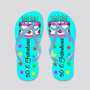 GORGEOUS 50TH Flip Flops