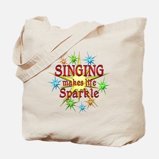 Singing Sparkles Tote Bag
