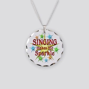 Singing Sparkles Necklace Circle Charm