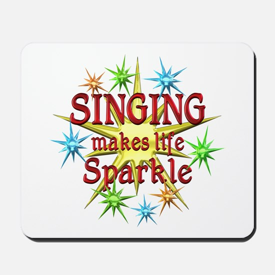 Singing Sparkles Mousepad
