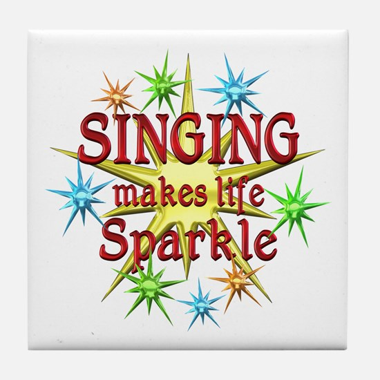Singing Sparkles Tile Coaster