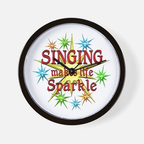 Singing Sparkles Wall Clock