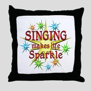 Singing Sparkles Throw Pillow